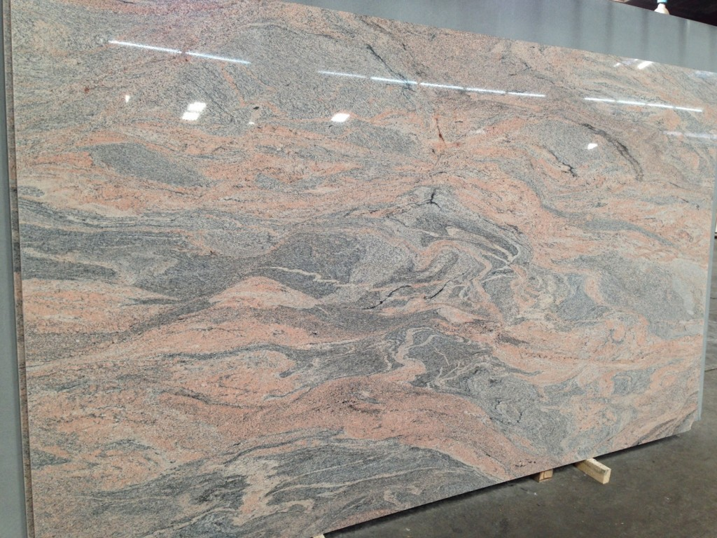 Pink Stone Slabs : Juparana pink granite slabs