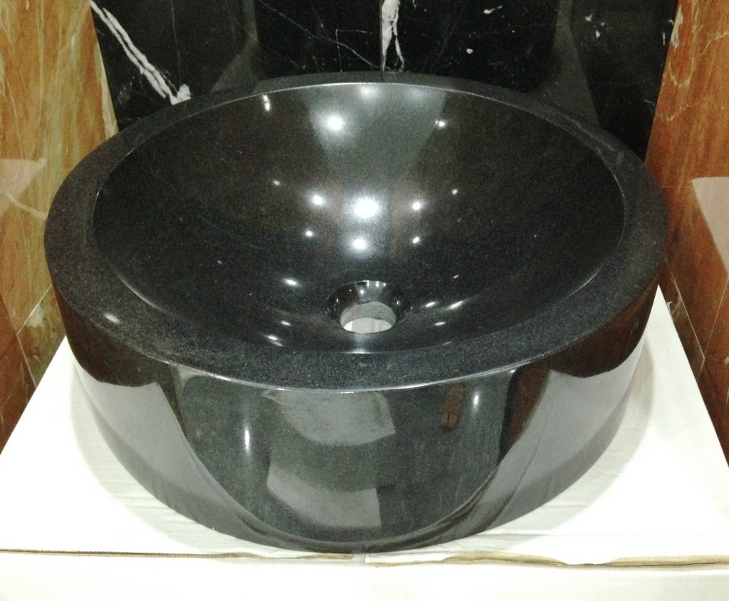 Black Granite Round Sink 450 x 450