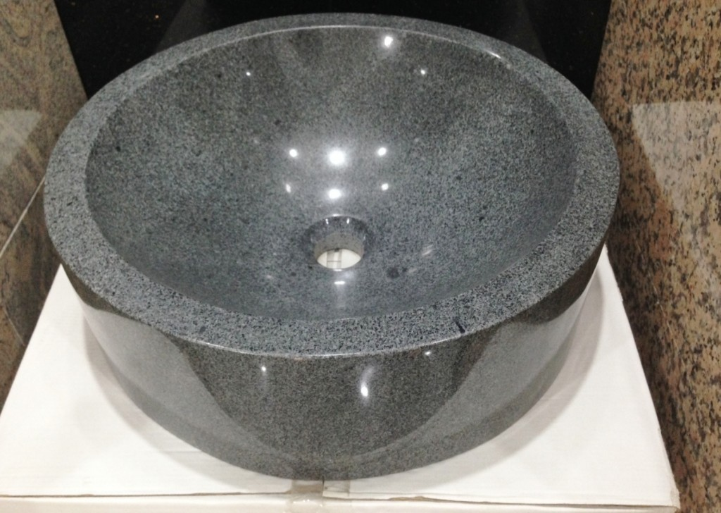 Grey Granite Round Sink 450 x 450