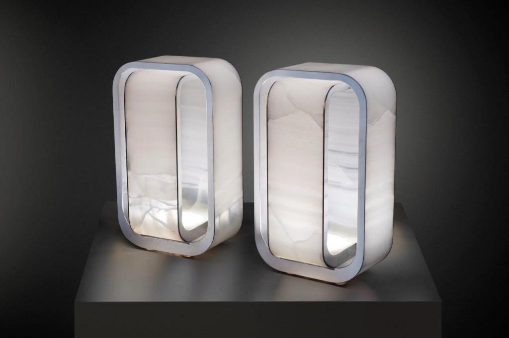 Stone Onyx Table Light
