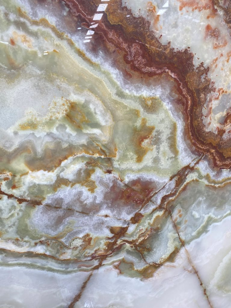 Brown White Onyx