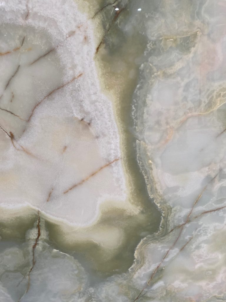 Green and White onyx